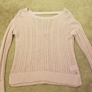American Eagle Open Stitch Low Back Sweater